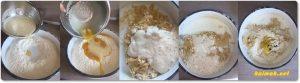 замесване на тесто за козунак